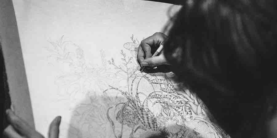 Dibujo con estilografo