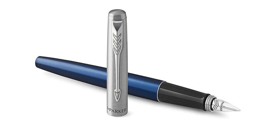 Comprar pluma estilográfica de color azul real y tinta azul PARKER JOTTER, plumas estilográficas ejecutivas de punta media, plugin medio recambio de tinta, pluma estilográfica punta F,
